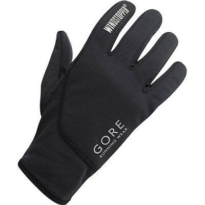 Gore Running Essential Windstopper Unisex Gloves - Black All Sizes