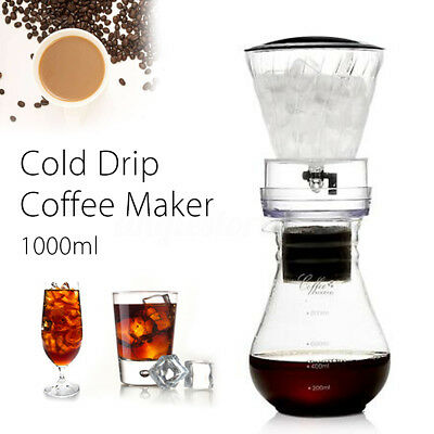 1000ml Dutch Coffee Pot Cold Drip Water Drip Brew Coffee Maker Serve For 10cups