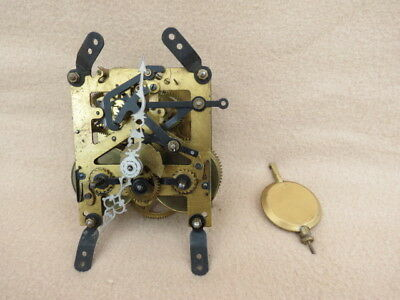Vintage Smiths Striking Clock Movement, Hands And Pendulum