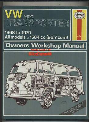 vw t2 transporter 1 6 haynes manual 1968 1979 camper kombi bay rh picclick co uk VW Bus Engine 66 VW Bus