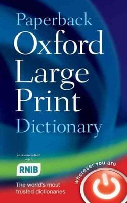 Paperback Oxford Large Print Dictionary by Oxford Dictionaries 9780199216307