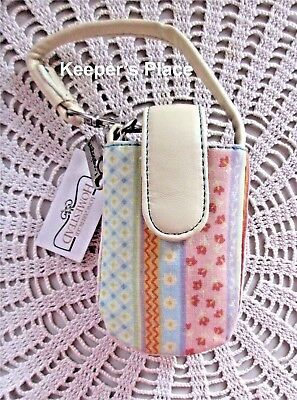 Longaberger SPRING PARADE Cell Phone Case Faux Leather Trim New Tag LAST ONE