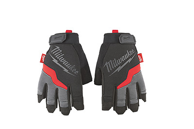 New Milwaukee 48-22-8742 Large Fingerless Carpenter Work Gloves Sale New