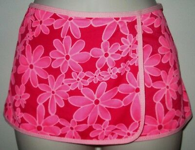 305607837e2073 LIMITED TOO SWIMSUIT COVER-UP SKIRT XS Pink & Red Floral GIRLS Swim ...