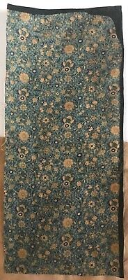 Charming 19th C. French /Persian Small Exotic Floral Linen Block Print (2288)