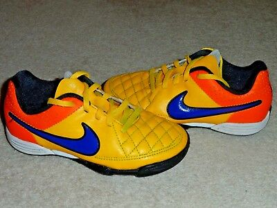 Nike Tiempo Size Uk Kids 11 Yellow Boys Girls Astro Turf Football Trainers  Shoes