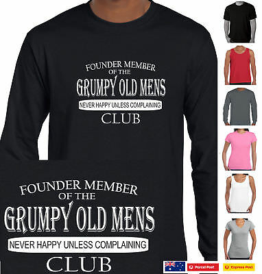 Grumpy old mens club Funny T-shirts Men's t shirts fathers day Tee grandfather