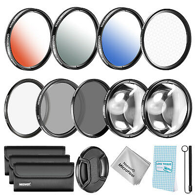 Neewer 67mm Lens Filter and Accessory Kit for Nikon D7000 D5100 D90 D60 D70 D40