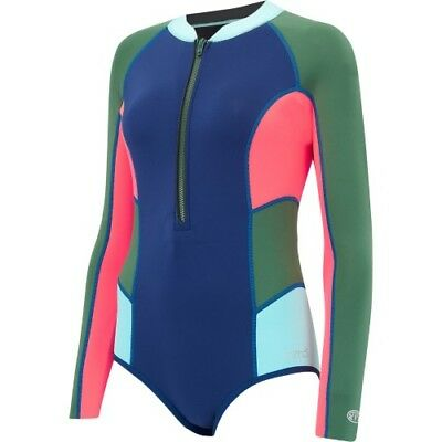Animal Alexa Gem Neoprene Half Zip Womens Beachwear Swim Costume - Dark Navy