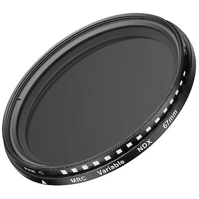 Neewer 67mm Ultra Slim ND2-ND400 Fader Neutral Density Adjustable Lens Filter