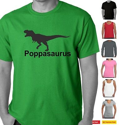 Funny T-Shirts t shirt Poppasaurus dinosaur dad father tee Father's day t shirt