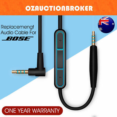 Cable Remote Mic F/ Bose QuietComfort 25 35 QC25 QC35 Headphone Android Phone AU