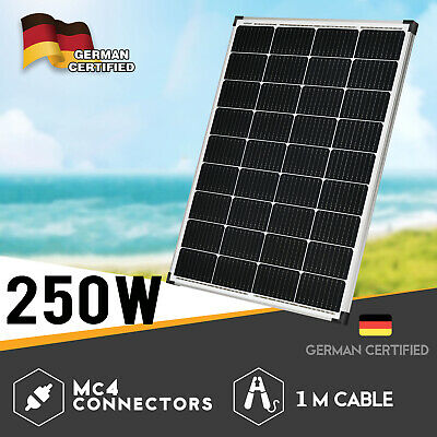 250W 12V Mono Solar Panel Caravan Home Off Gird Battery Charging Power 250 Watt