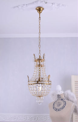 Ceiling light chandelier crystal candelabra lustre basket Empire French style
