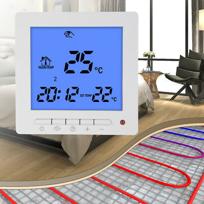 LCD Thermostat Pre-Set Programmable Heating System Temperature Control BI812