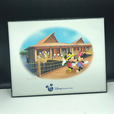 WALT DISNEY DON WILLIAMS SIGNED framed poster print litho Mickey Minnie mouse
