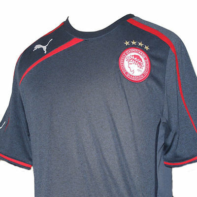 "Men's ""Puma"" Olympiacos Away Denim Blue Football Team Shirt 2013-14 (L) BNWT"