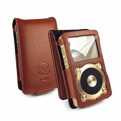 Tuff-Luv Faux Leather Case Cover for Fiio X1 - Brown
