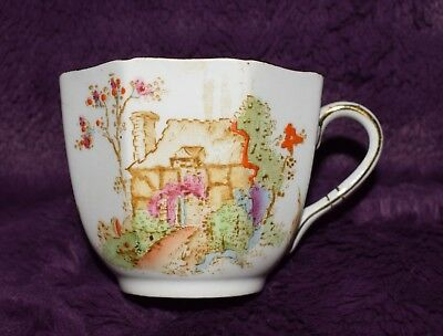 Vintage Sutherland Thatched Cottage Octagonal Art Deco China Tea Cup