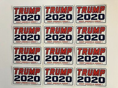 Trump 2020 ...Keep America Great ! ...Vinyl Stickers Decals  ...12 Pack