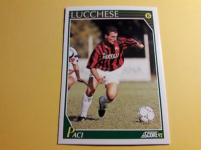ROBERTO PACI LUCCHESE Card SCORE 92 n°306 Soccer NUOVA