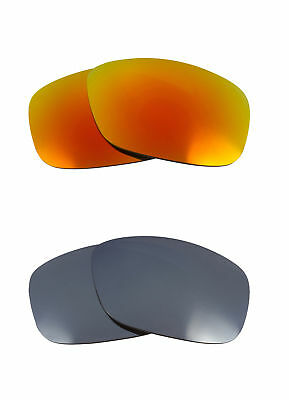 f9cd9143b7 Best New SEEK Replacement Lenses Oakley CRANKCASE Silver Mirror Fire Red  100% UV