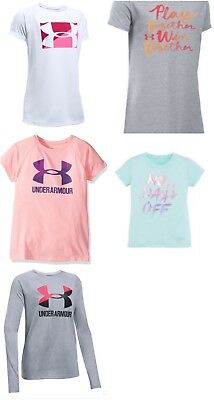 New Under Armour Girls Graphic Print Shirt MSRP $24.00