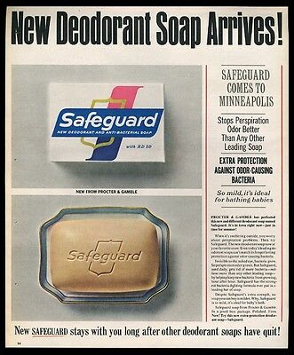 1965 Safeguard soap color photo introductory vintage print ad