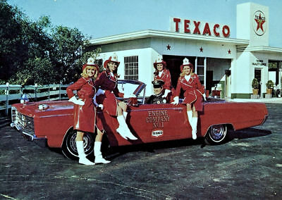 Texaco Firechief Gas Station Girls #1 Engine Co.
