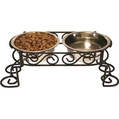 Stainless Steel Scroll Work Double Diner 1 Quart Stainless Steel