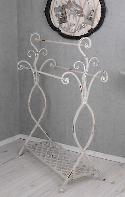 handtuchhalter shabby chic handtuchst nder metallst nder weiss handtuchablage eur 53 99. Black Bedroom Furniture Sets. Home Design Ideas