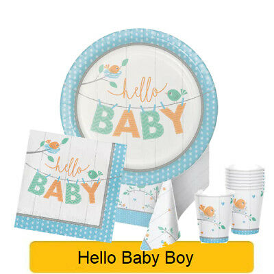 Hello Baby Boy - Baby Shower Range Tableware Balloons Decorations - CP 1C