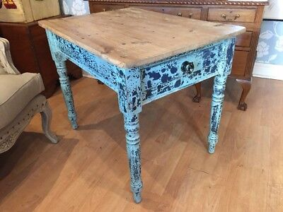 Antique Victorian Pine Stripped & Painted Farmhouse Table FREE UK P&P🇬🇧