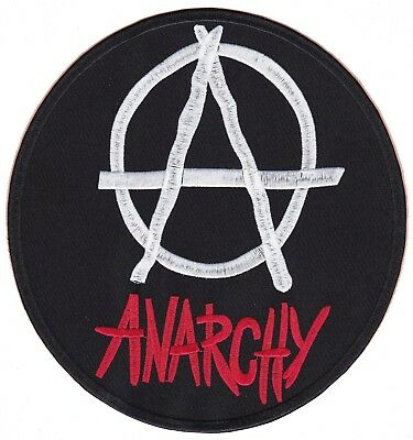 Backpatch patche dorsal écusson dos grande taille ANARCHIE anarchy patch grand