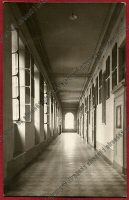LODI CITTÀ 66 COLLEGIO SAN FRANCESCO - INTERNO Cartolina VIAGG.1925 REAL PHOTO