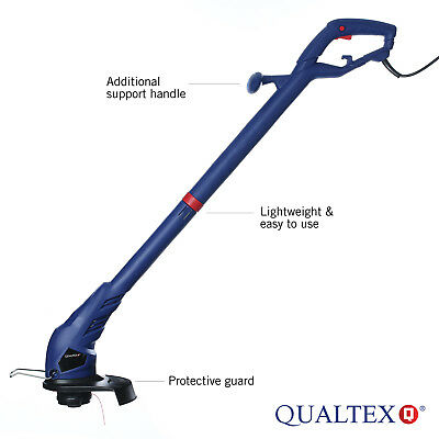 Qualtex 300W AC Electric Garden Grass Trimmer Adjustable Lawn Edge Cutter GDN102