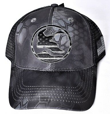 ce05567eca6 KRYPTEK TYPHON Gander Mountain Black Mesh Hat Cap Adjustable GM201595 K101   NEW
