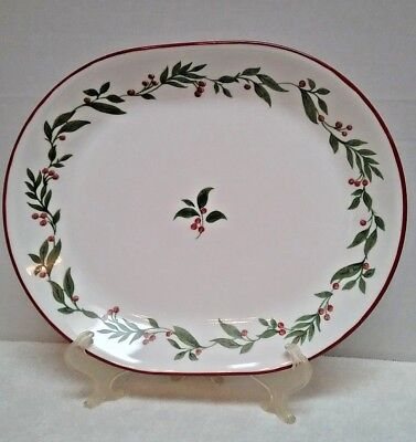 """Corning Spiceberry Corell 12"""" Oval Plate/serving Platter Discontinued 2002 Mint"""