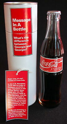 SOVIET GEORGIA Coca-Cola Message Bottle in TUBE - COOL COCA-COLA SCRIPT~!!