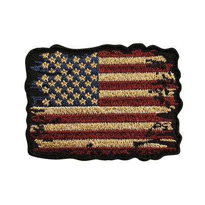 Distressed American Flag Vintage Look Morale Hook Patch (3.0 inch MTB2)