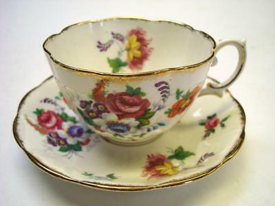 Royal Albert Barbara Ann Teacup + Saucer Pair with Rose and Flowers Theme