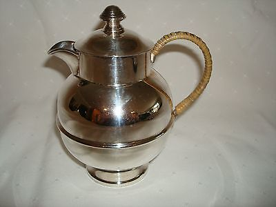 Morton-Parker Marlboro Plate Art Deco Individual Tea Or Hot Water Pot Rattan