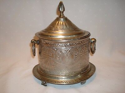 EXOTIC PEWTER TEA CADDY Deposle