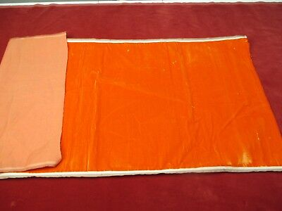 Antique French Millinery Velvet Fabric Cotton Silk Early 19 C Orange