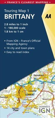 Brittany by AA Publishing 9780749578992 (Sheet map, folded, 2017)
