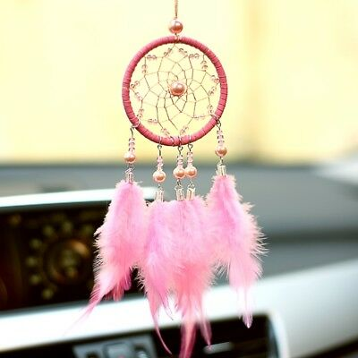 Car Pendant Dream Catcher Home Decor Wall Decoration Ornament Gift Pink