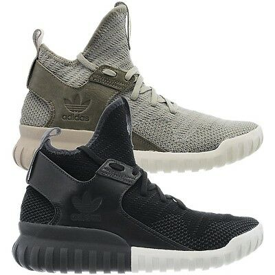 best cheap f7d7f 38854 Adidas Tubular X Knit men s high-top sneakers gray-brown black casual shoes