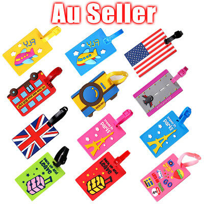 10Pcs Travel Luggage Tags Suitcase Label Name Address ID Bag Tag Wholesale