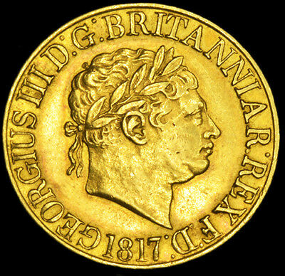 KING GEORGE THE III 1817 GOLD SOVEREIGN Almost Uncirculated Condition.
