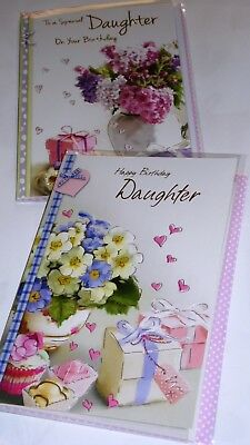 """DAUGHTER BIRTHDAY CARDS x12, JUST 27p, WRAPPED, 5"""" X 7"""" FREE POSTAGE (B75"""